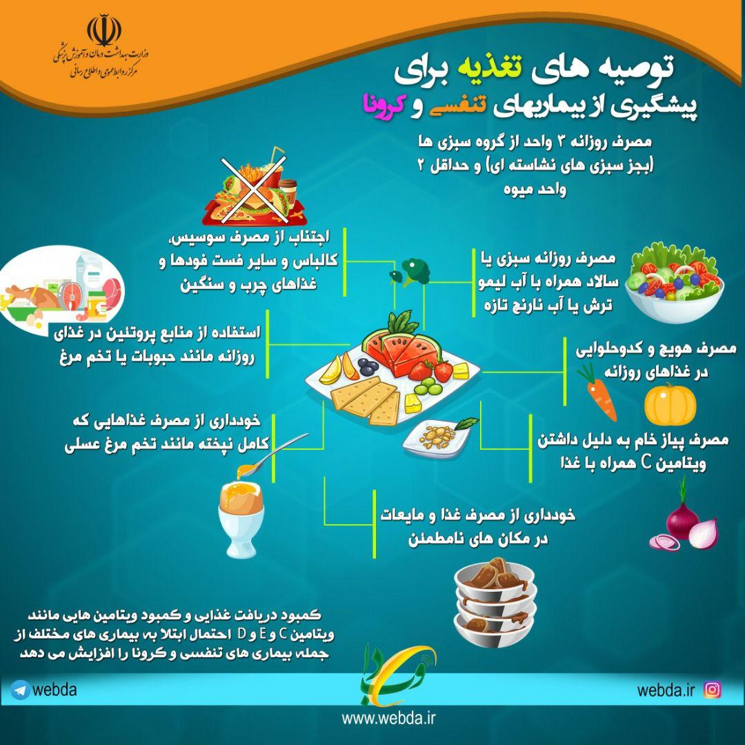 توصیه های تغذیه ای